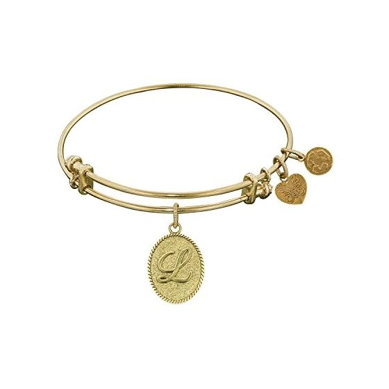 Angelica Ladies Initials Collection Bangle Charm 7.25 Inches (Adjustable) GEL1166