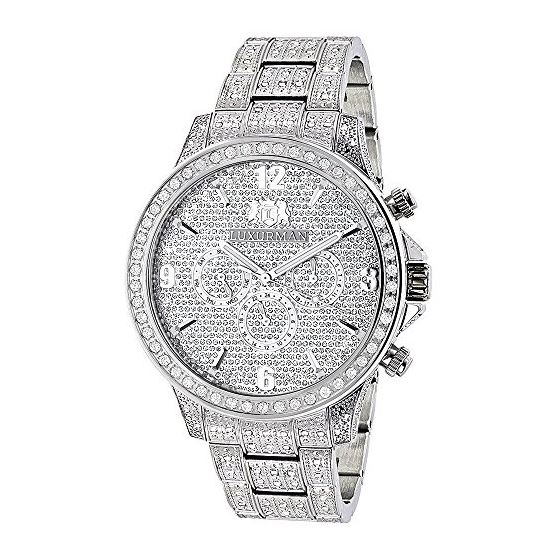 Fully Iced Out Mens Diamond Watch 3 Carats Of Diam