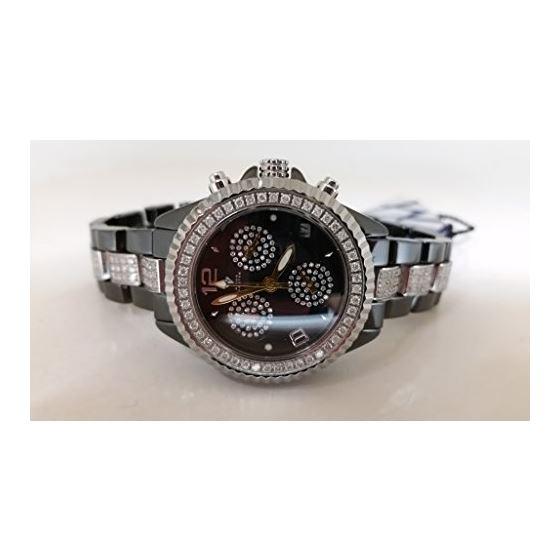 Men's Diamond Watch, 3.50 Ctw