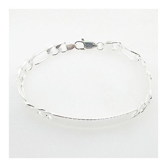 Figaro Link ID Bracelet Necklace Length - 8 inches Width - 8mm 1