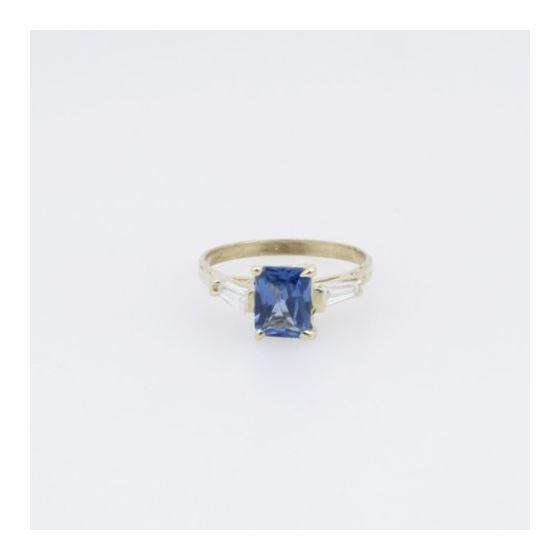 10k Yellow Gold Syntetic purple gemstone ring ajr36 Size: 7.5 3