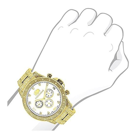 Iced Out Mens Watch With Diamond Band 1.25Ctw Of-3
