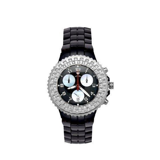 Unisex Ceramic Diamond Watch 1.25Ctw