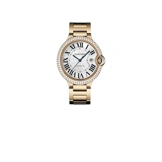 Cartier Ballon Bleu Mens Gold Watch WE9008Z3