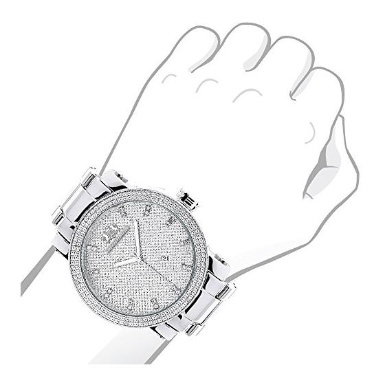 Luxurman Mens Real Diamond Watch 0.12ct  90298 3