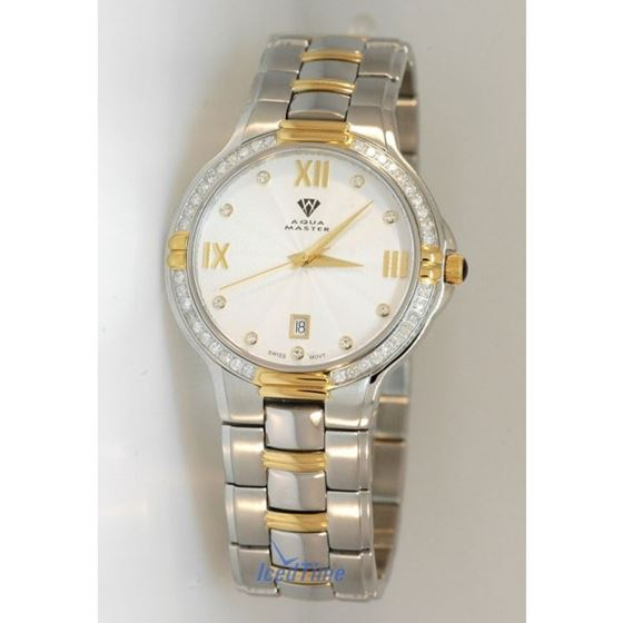 Aqua Master Swiss Classica Round 1.00 ct Diamond Mens Watch w#306 1