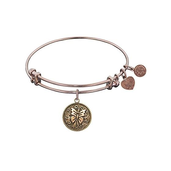 Angelica Ladies Animals Collection Bangle Charm 7.25 Inches (Adjustable) PGEL1081