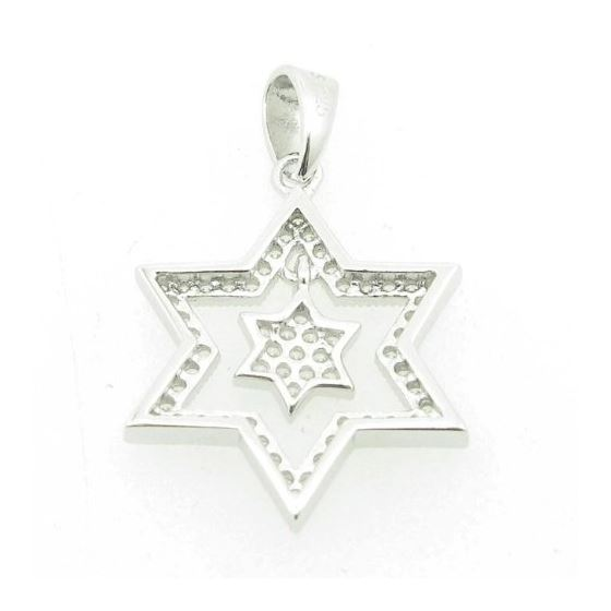 Ladies .925 Italian Sterling Silver star within star of david pendant Length - 26mm Width - 16.5mm 3