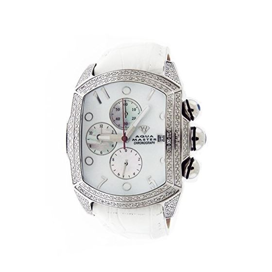 2.50Ct Diamonds Full Case White Face Band Watch