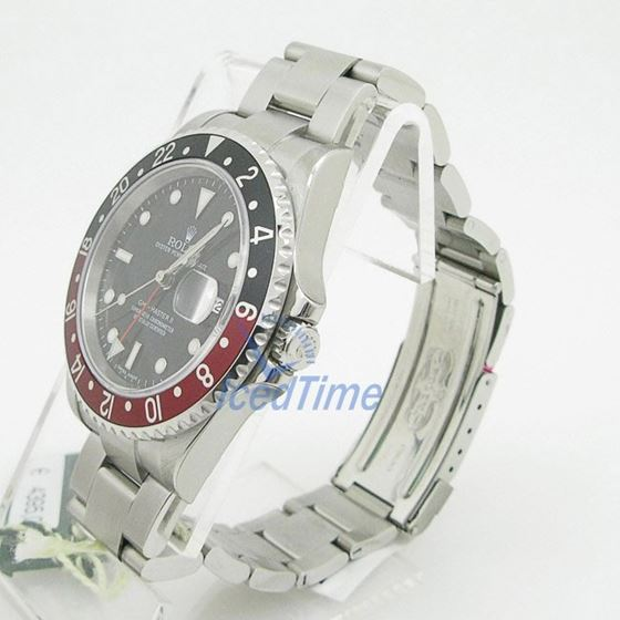 """Rolex GMT Master II Black Dial """"""""Coca Cola"""""""" Bezel Automatic Mens Watch 3"""