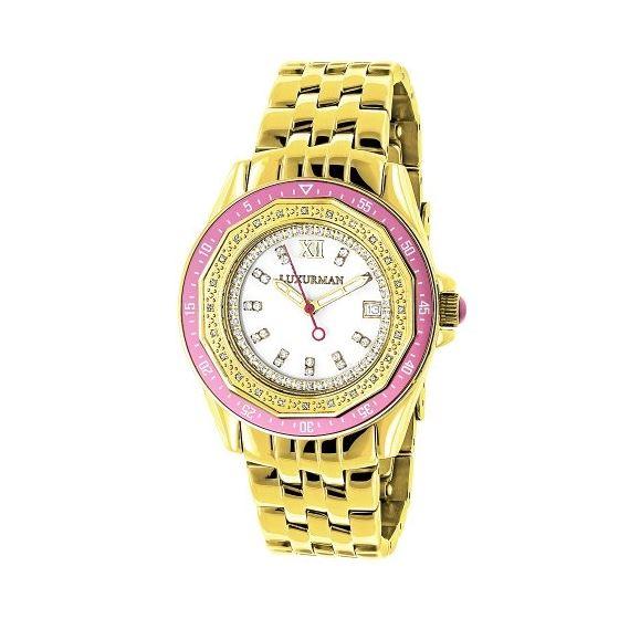 Luxurman Womens Geniune Diamond Watch 0. 90695 1