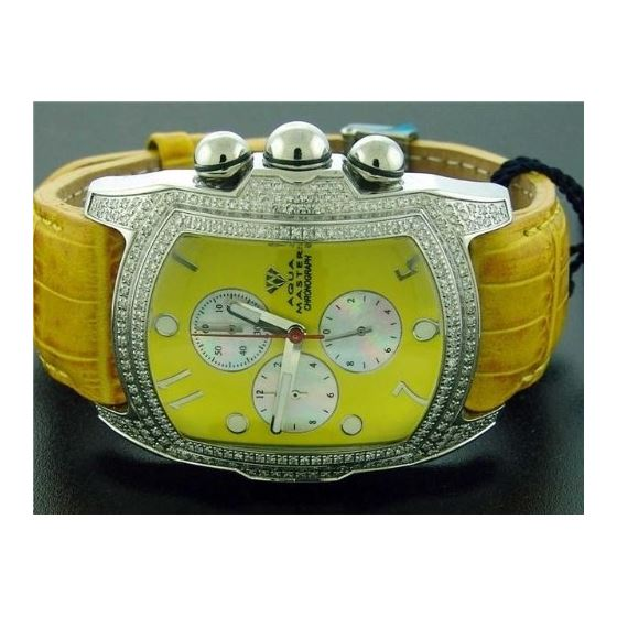 Bubble Loop Yellow Face W/ 2.50Ct Diamonds Watch
