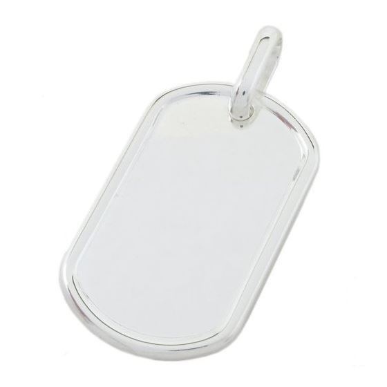 Plain dog tag pendant SB19 45mm tall and 23mm wide 1