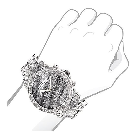 Mens LUXURMAN Watches: Real Diamond Watch 1.25Ct-3