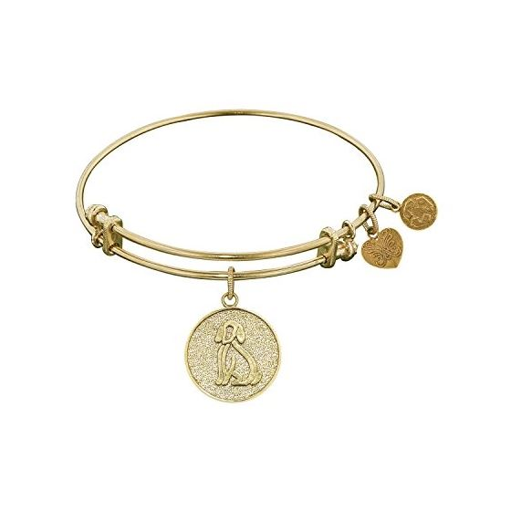 Angelica Ladies Animals Collection Bangle Charm 7.25 Inches (Adjustable) GEL1096