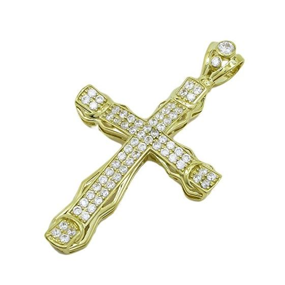 10K Yellow Gold unisex cross ASVJ64 1
