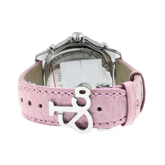 Jacob Co Pink Band 5Time Zone Mother Of Pearl Di-3