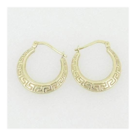 Ladies 10K gold and .925 Italian Sterling Silver earrings fancy stud hoop huggie ball fashion dangle