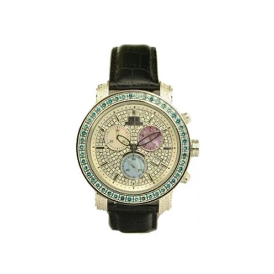 Black Leather Band Green
