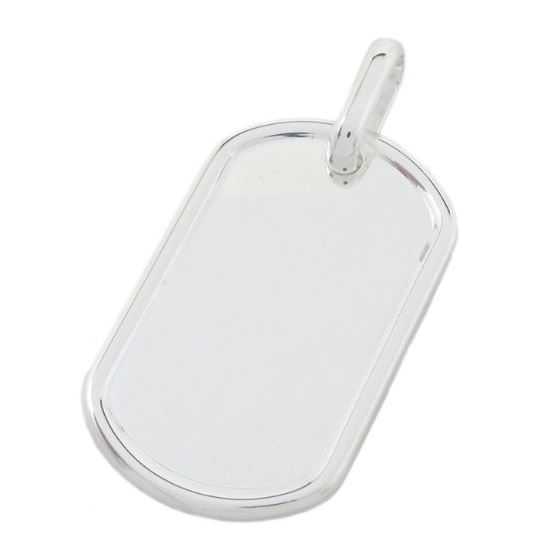 Plain dog tag pendant SB21 57mm tall and 30mm wide 1