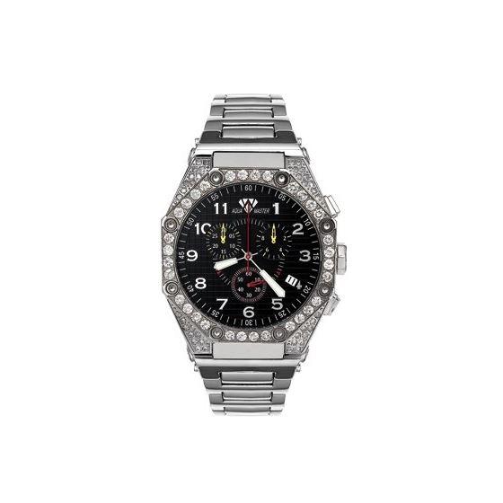 Men's Octagon Diamond Watch With Diamond Bezel