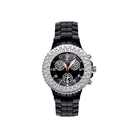 NEW! Ladies' Ceramic Diamond Watch, 1.25 Ctw