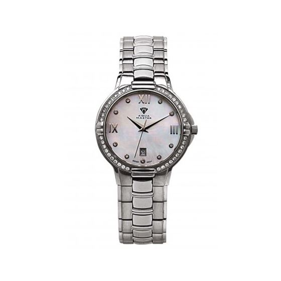 Aqua Master Swiss Classica Round 1.00 ct Diamond Mens Watch w306-2-5