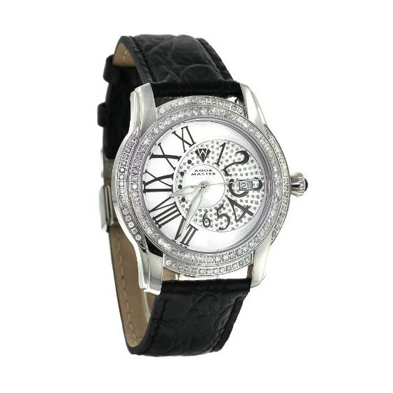 Men's Classic 1.70Ct Diamond Watch With Black