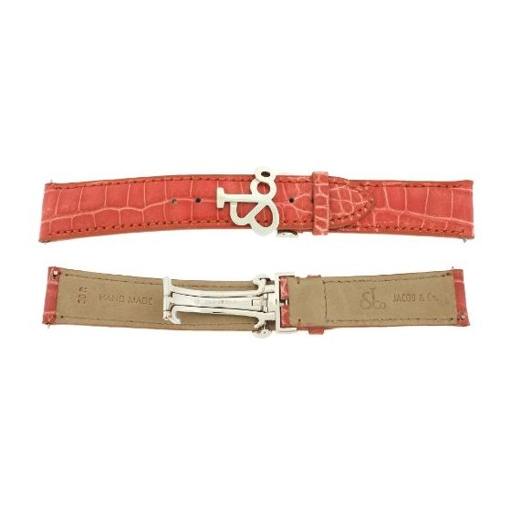 Jacob Co. Genuine Real Alligator Coral Band Strap