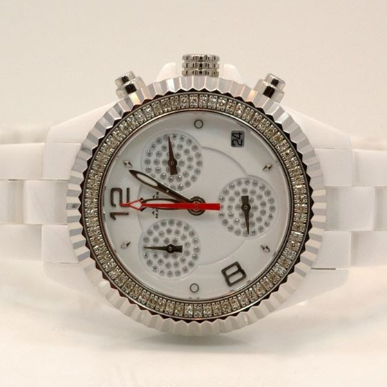 Aqua Master Ladies Ceramic Diamond Watch 1.25ctw W1151 1