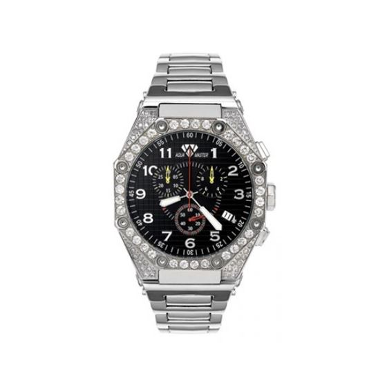 Aqua Master Diamond Watch The AquaMaster Octagon Watches Stainless Steel with Diamonds 2-4W