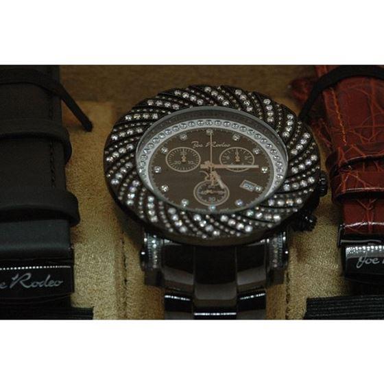 Joe Rodeo Watches: Mens Junior Diamond Watch 4.25 Black JJU157 3