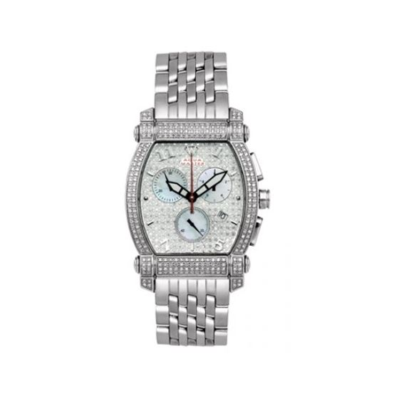 Aqua Master Diamond Watch Unisex Stainless Steel Watches With Half Full Diamonds 15-3W