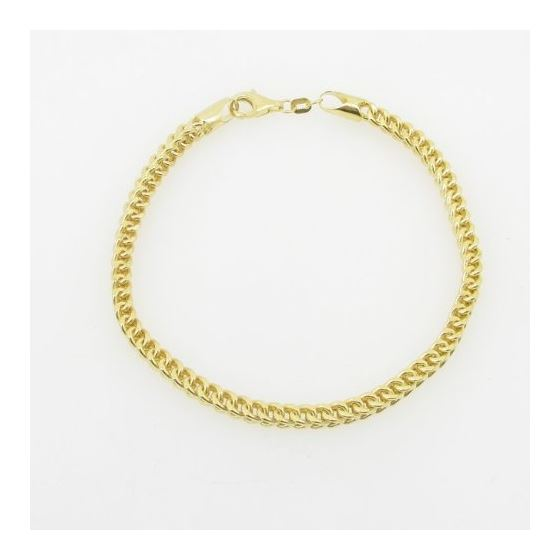 Mens 10K Yellow Gold Franco Bracelet AGMBRP42 8.-3