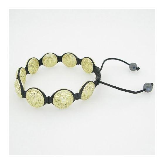 Yellow Greek style medusa string bracelet beaded macrame jewelry fashion bead 3