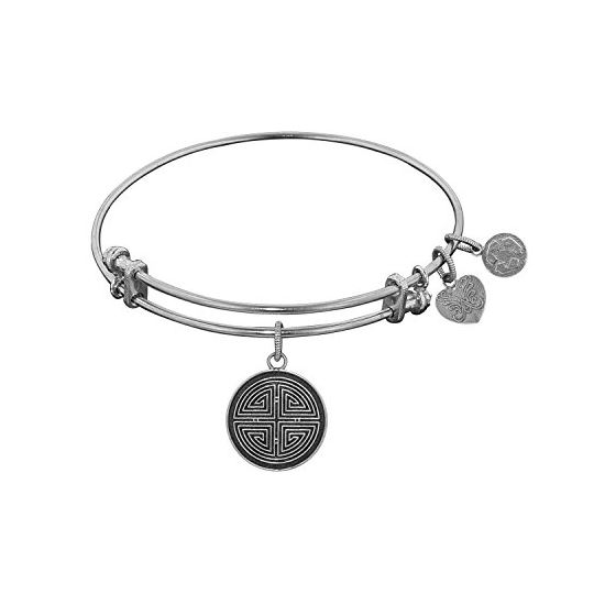 Angelica Ladies Inspirational Collection Bangle Charm 7.25 Inches (Adjustable) WGEL1125