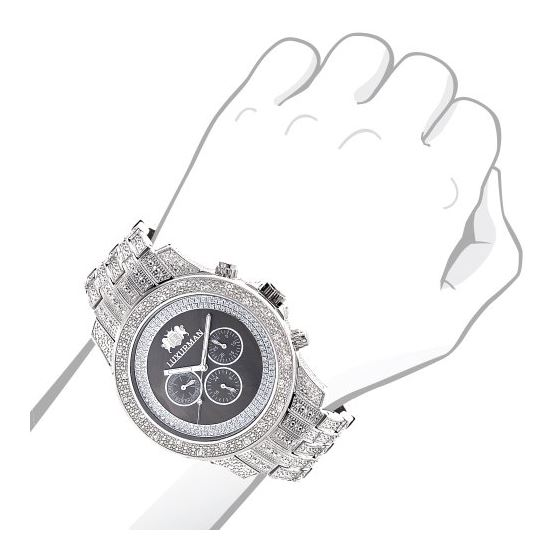 Iced Out Mens Diamond Watch By LUXURMAN 1.25Ct B-3