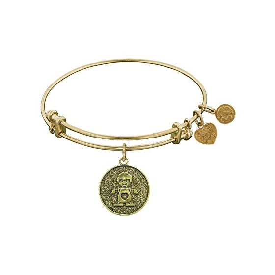 Angelica Ladies Mom and Family Collection Bangle Charm 7.25 Inches (Adjustable) GEL1091