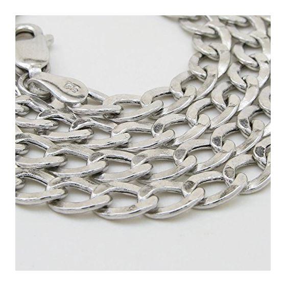 """14K White gold cuban link chain 16"""" Long 5MM Wide MLC20 3"""