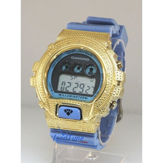Aqua Master Shock Diamond Mens Yellow Wa 55514 1