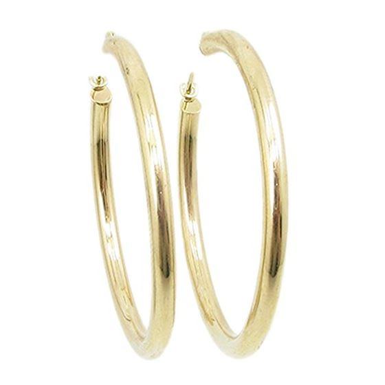 cbac49e271639 10k Yellow Gold earrings Plain hoop AGBE5