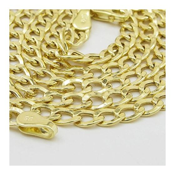 """14K Yellow gold cuban link chain 24"""" Long 4MM Wide MLC6 3"""