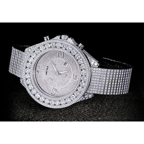 Arctica Watches Arctica 57mm Diamond Case 45.70ct AXLDC-DD3-4CS-5F