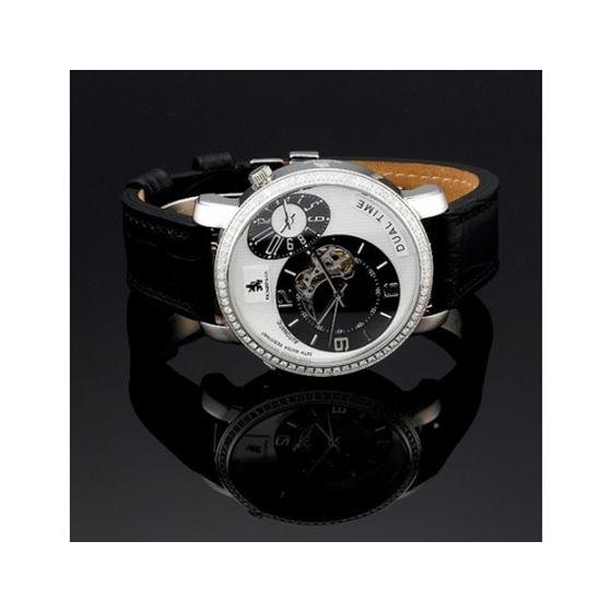 Mens Richard And Co. Diamond Steel Watch 2.25ct