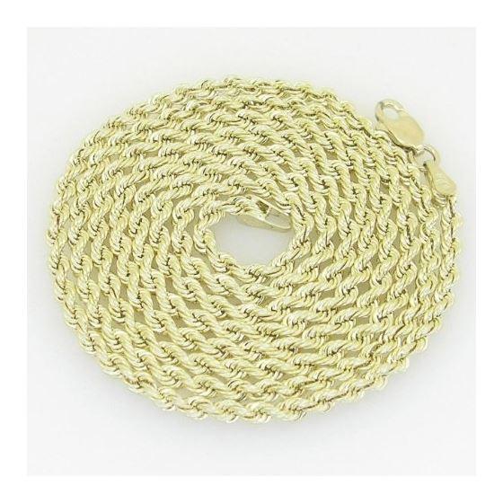 10K Yellow Gold rope chain GC5 1