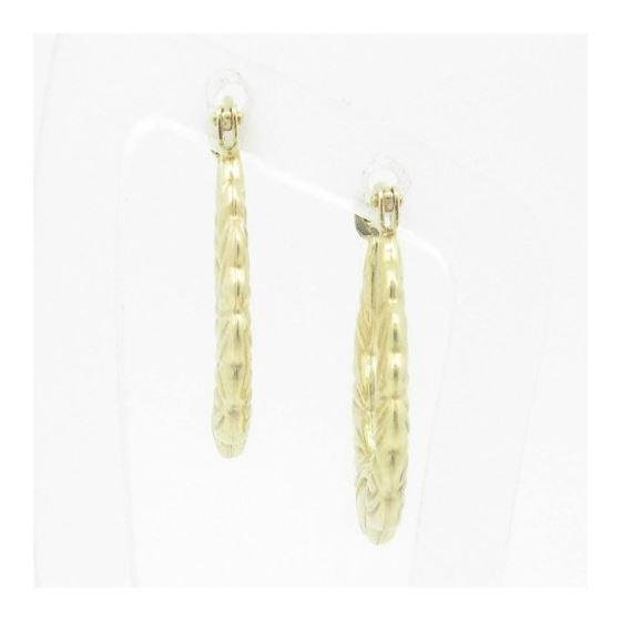 Ladies 10K Gold and .925 Italian Sterling Silver Earrings Stud Hoop Huggie Ball Fashion Dangle Swag