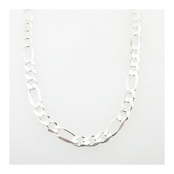 Silver Figaro link chain Necklace BDC69 1