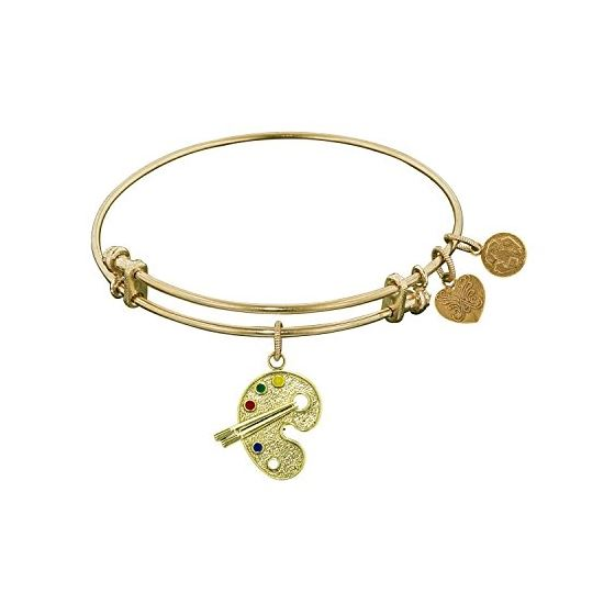 Angelica Ladies Sports and Hobbies Collection Bangle Charm 7.25 Inches (Adjustable) GEL1202