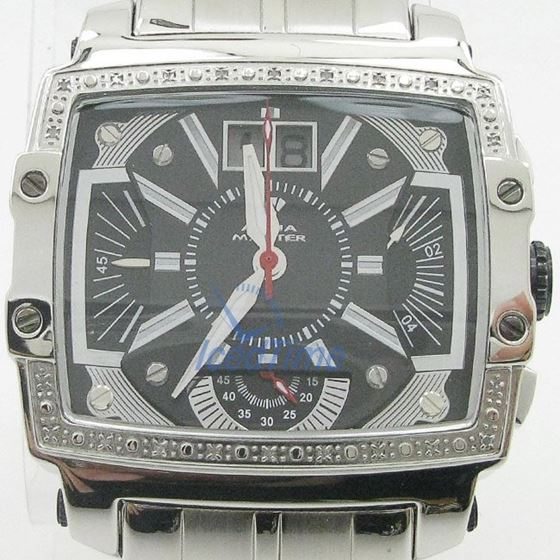 Mens Aqua Master Iced Out Diamond Watch W329AQ2 1