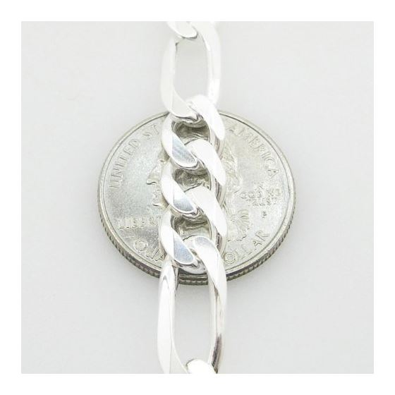 Figaro Link ID Bracelet Necklace Length - 8 inches Width - 8mm 3